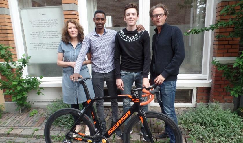 In Nederland, lijkt het fietsgeluk aan zijn zijde