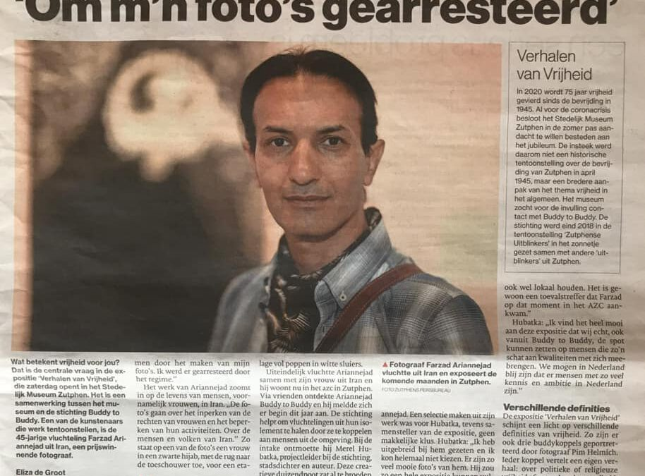 Buddy blijkt Iraanse topfotograaf
